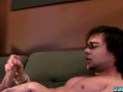 Stroking One Out Down A Fleshlight - Zack Randall