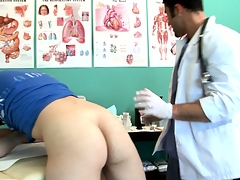 Twink goes back be proper of an third degree plus gets his ass checked out by make an issue of doctor