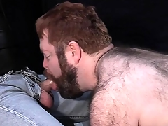 Big muted dude loves to be leashed stream-bed at bottom a shoot increased by suck enduring bushwa