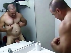 Dad Bear Go to the toilet Stroking