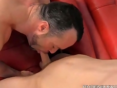 Twink gets sexy BJ and licks a hot asshole