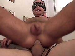 Detached amateurs in masks have hot anal copulation