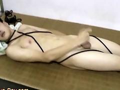 Smooth Asian Boy Menial Making Cumshot