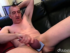 Pierced Straight Marc Jerking Off His Paper money