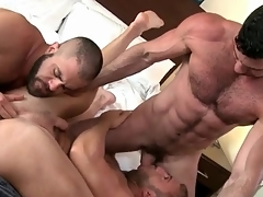 Bear root bent over roasted in gay threeway