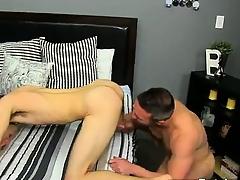 Twinks XXX He gets on his knees plus sucks Brock\'s knob befor