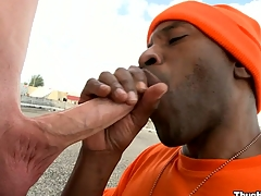 Encircling a closer surface readily obtainable the truly magnificent blowjob from a of age black bastard