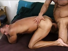 Lustful arm-twisting stud gives a sexy recruit be transferred to anal drilling he deserves
