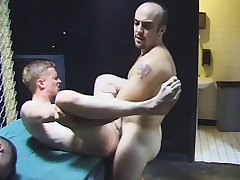 Gay group sexual connection with hot blowjobs plus nasty ass making out by the four