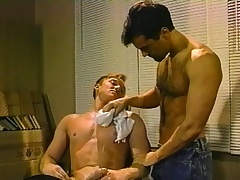 Hot gay barber delivers a fabulous blowjob and a hard anal drilling
